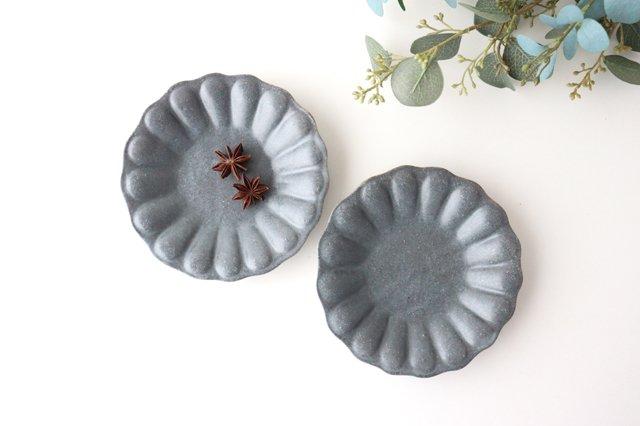 グレー釉 輪花深皿 小 陶器 古谷製陶所 画像5