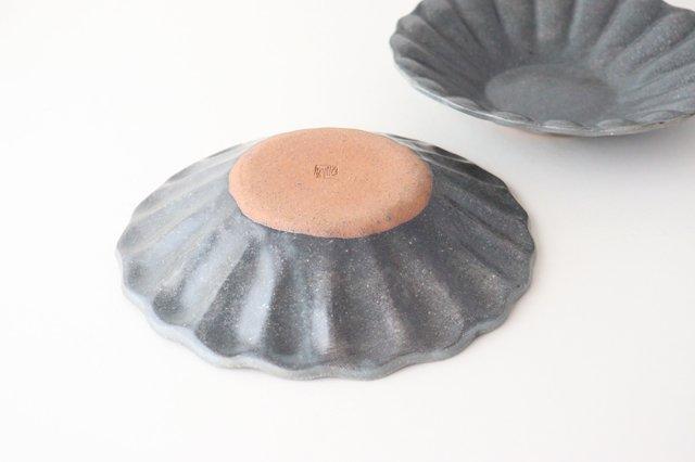 グレー釉 輪花深皿 大 陶器 古谷製陶所 画像3