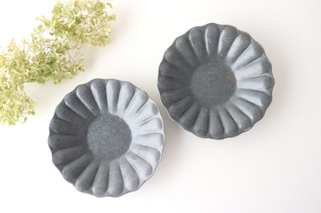 グレー釉 輪花深皿 大 陶器 古谷製陶所 画像4