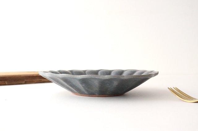 グレー釉 輪花深皿 大 陶器 古谷製陶所 画像6
