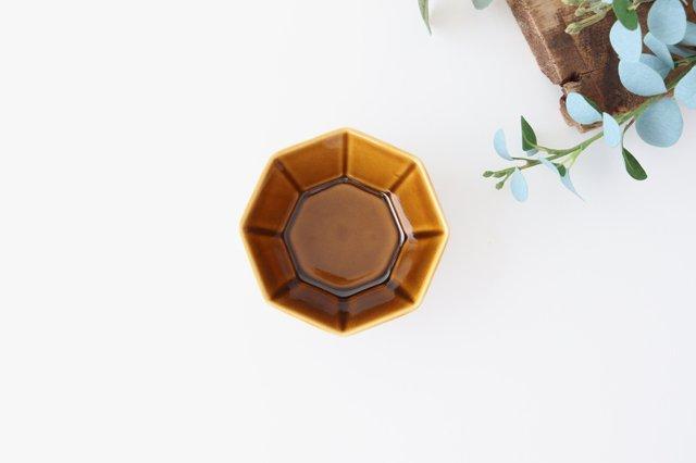 八角小鉢 ブラウン 磁器 美濃焼