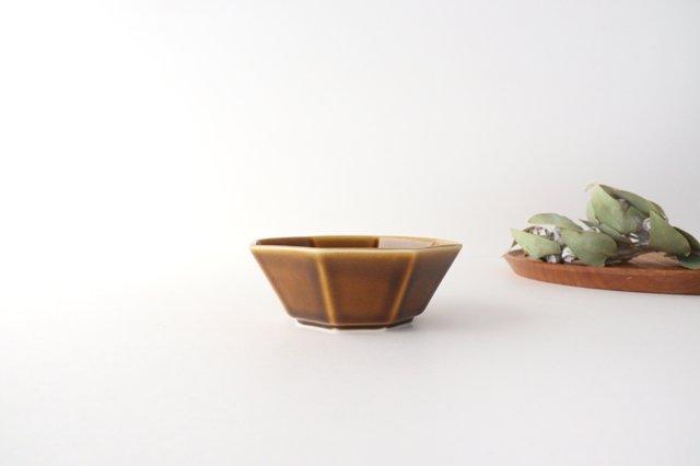 八角小鉢 ブラウン 磁器 美濃焼 画像4