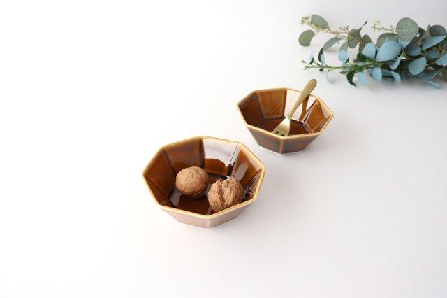 八角小鉢 ブラウン 磁器 美濃焼 画像6
