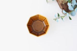 八角小鉢 ブラウン 磁器 美濃焼商品画像