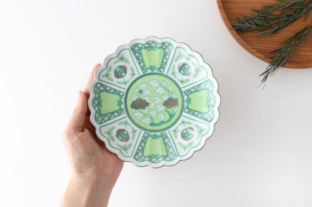 皐月15cm皿 moegi 磁器 kotohogu 波佐見焼 画像6