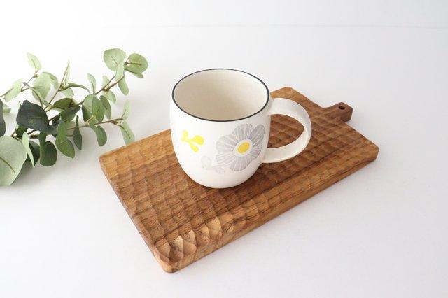 マグカップ 花 陶器 安見工房 信楽焼