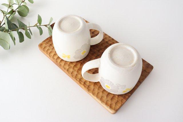 マグカップ 花 陶器 安見工房 信楽焼 画像2