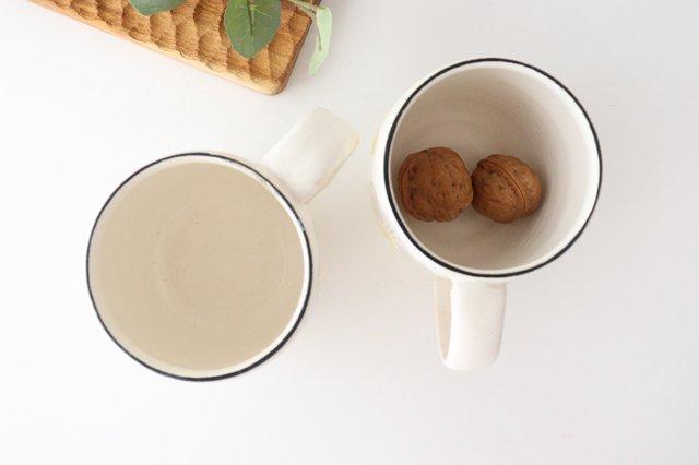 マグカップ 花 陶器 安見工房 信楽焼 画像3