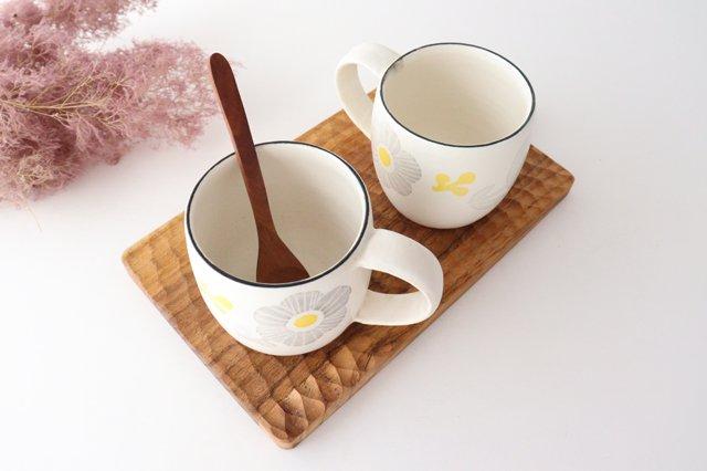 マグカップ 花 陶器 安見工房 信楽焼 画像5