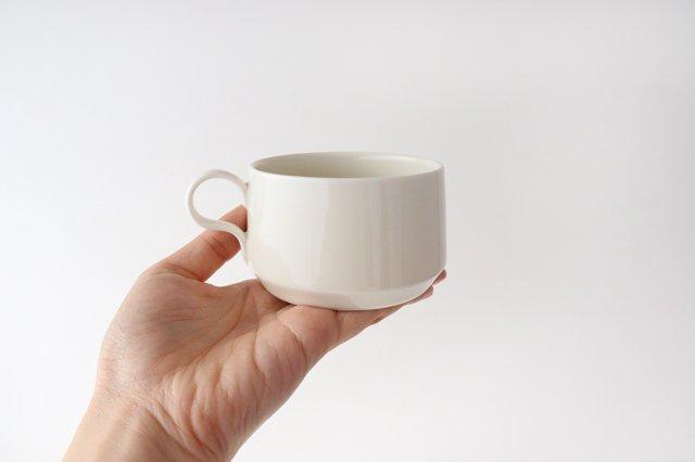 ティーカップ アイボリー 磁器 sabato 波佐見焼 画像3