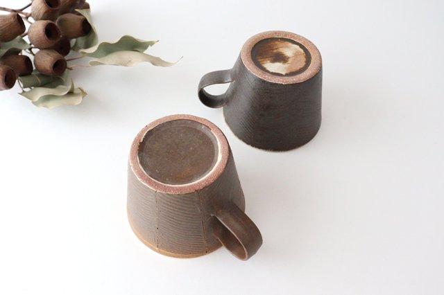 マグカップ 黒 陶器 堂本正樹 信楽焼 画像2