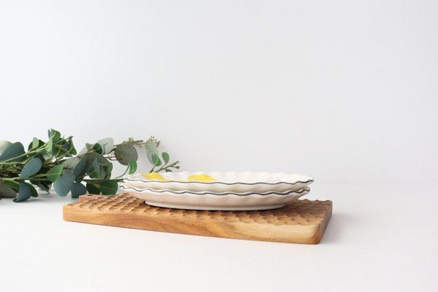 【一点もの】楕円皿 家 陶器 安見工房 信楽焼 画像4
