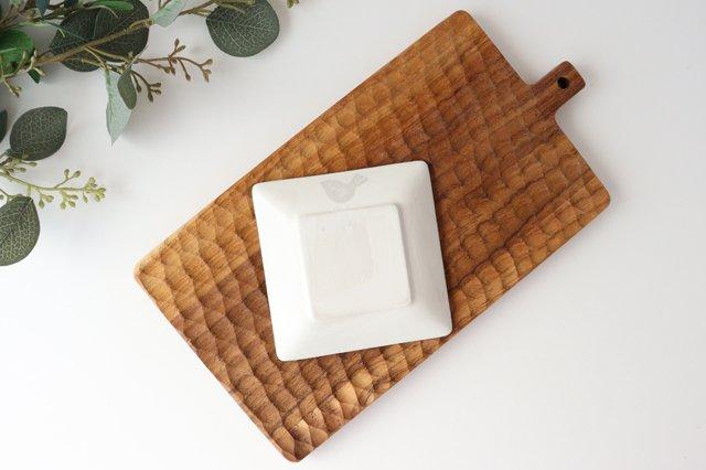 【一点もの】四角皿 家と空 陶器 安見工房 信楽焼 画像3