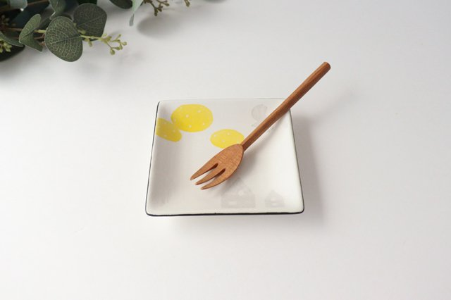 【一点もの】四角皿 家と空 陶器 安見工房 信楽焼 画像4