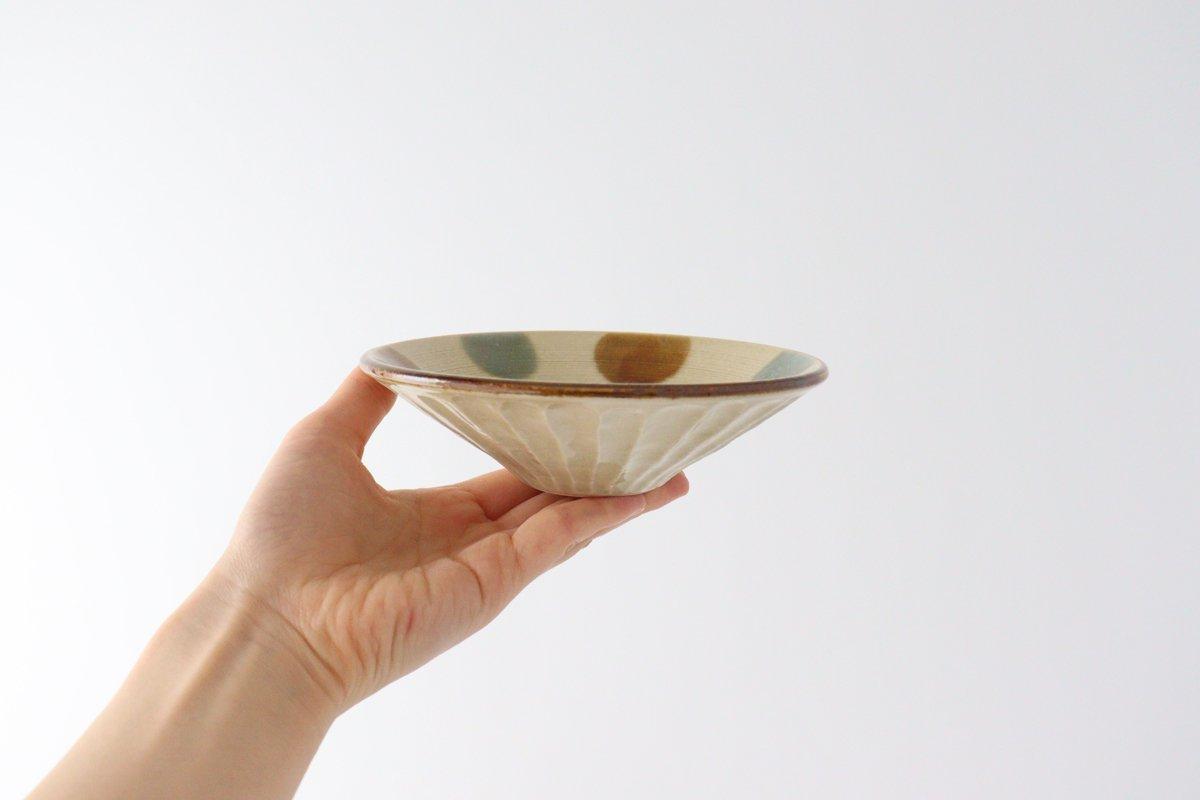 しのぎ浅鉢 小 琉球水玉 磁器 美濃焼 画像3