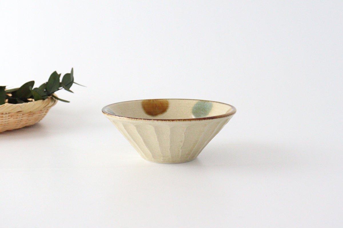 しのぎ深鉢 中 琉球水玉 磁器 美濃焼