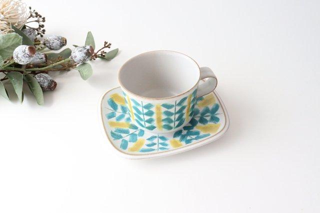 カップ&ソーサー green fajans 陶器 POTPURRI