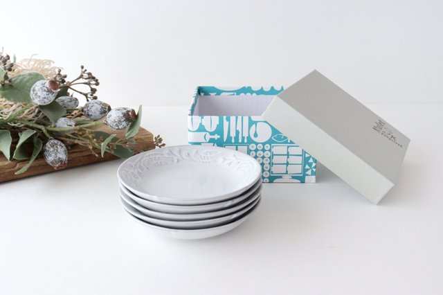 【無料ラッピング対象】小皿 5枚組み Mulet 陶器 POTPURRI