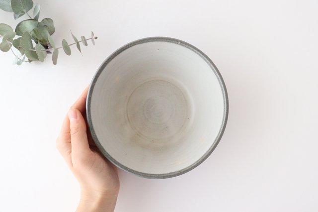 青白ドットボウル 陶器 安見工房 信楽焼 画像5