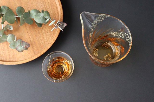 【無料ラッピング対象】瑞彩 酒器セット 琥珀 ガラス 津軽びいどろ 画像2