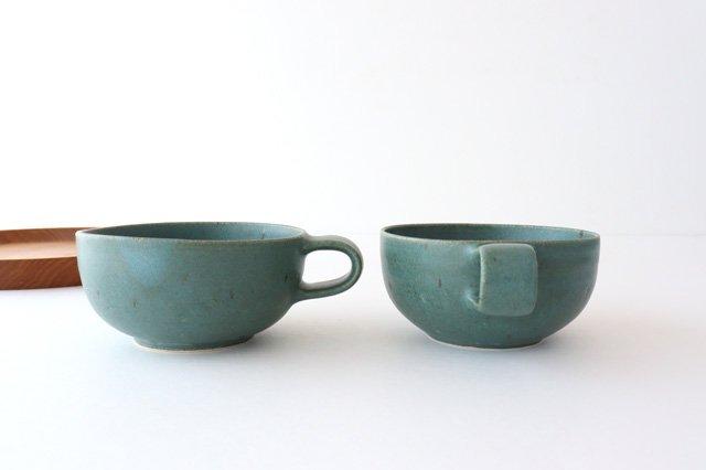 スープカップ 緑 陶器 寺嶋綾子 画像2