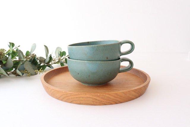 スープカップ 緑 陶器 寺嶋綾子 画像3