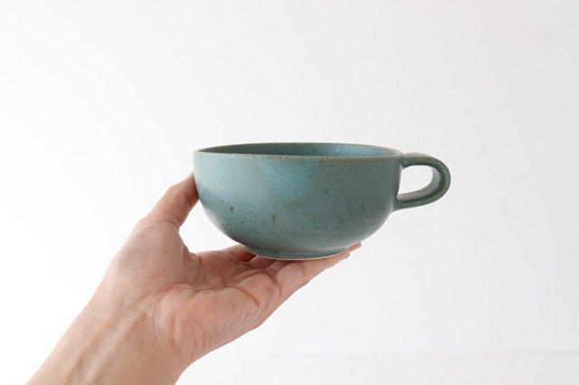 スープカップ 緑 陶器 寺嶋綾子 画像4