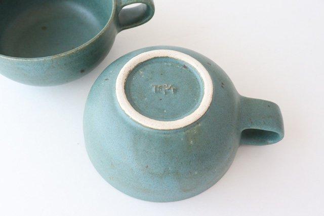 スープカップ 緑 陶器 寺嶋綾子 画像6