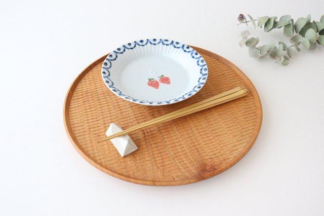 波彫皿 オランダ苺 磁器 有田焼 画像6