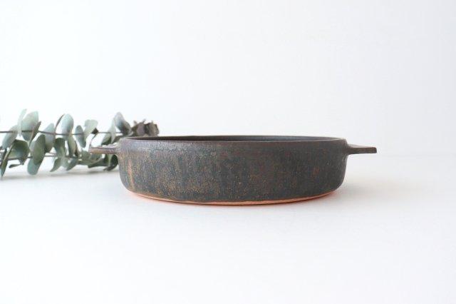 鉄釉 耐熱皿 L 陶器 松尾直樹 画像4