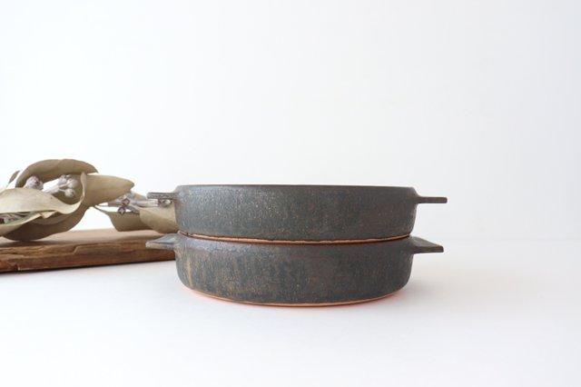 鉄釉 耐熱皿 L 陶器 松尾直樹 画像6