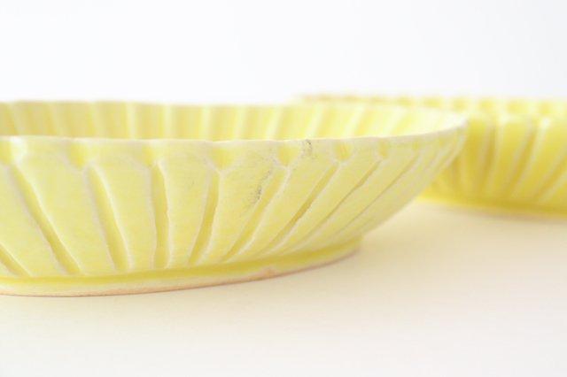 黄釉 輪花楕円深鉢 M 陶器 松尾直樹 画像4