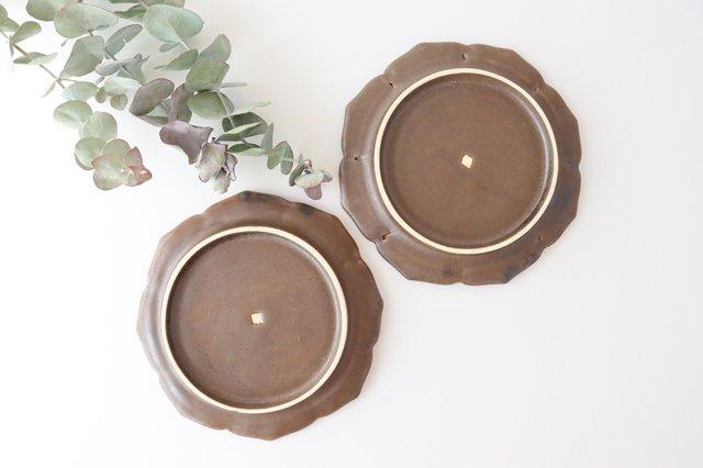 鉄釉 花型皿 S 陶器 松尾直樹 画像4