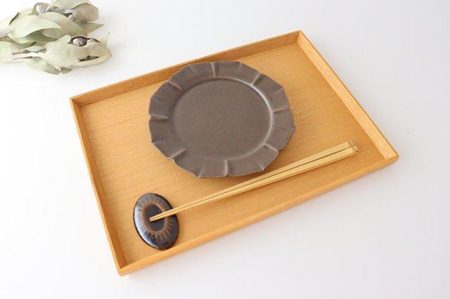 鉄釉 花型皿 S 陶器 松尾直樹 画像5