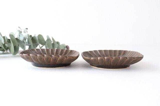 鉄釉 輪花角鉢 S 陶器 松尾直樹 画像2