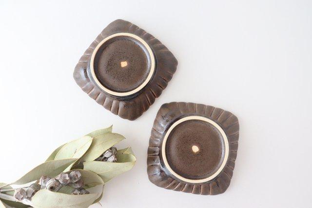 鉄釉 輪花角鉢 S 陶器 松尾直樹 画像4