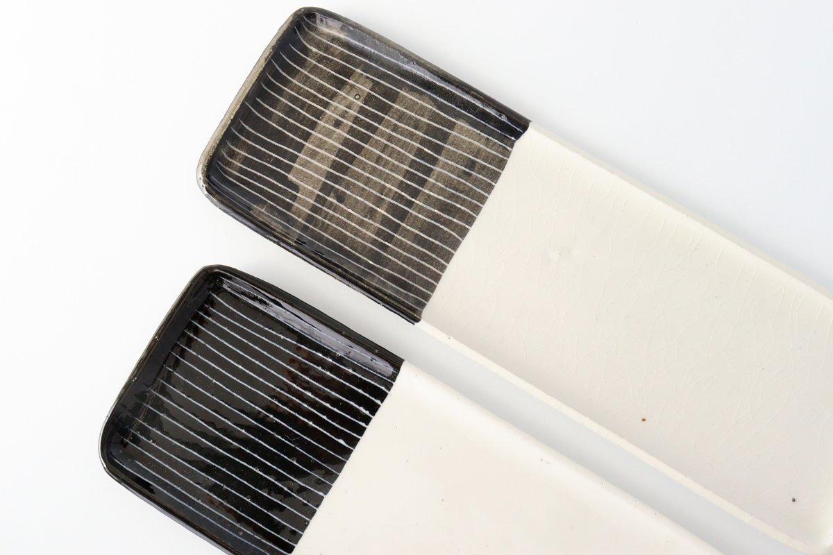 長角皿 線 大 陶器 石堂陶芸 常滑焼 画像3