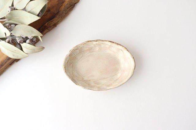 粉福 楕円皿 小 陶器 木のね