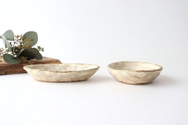 粉福 楕円皿 小 陶器 木のね 画像2