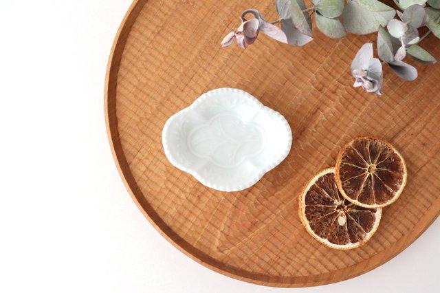 木瓜手塩皿 白磁 磁器 有田焼