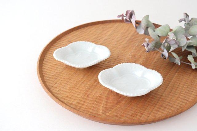 木瓜手塩皿 白磁 磁器 有田焼 画像2