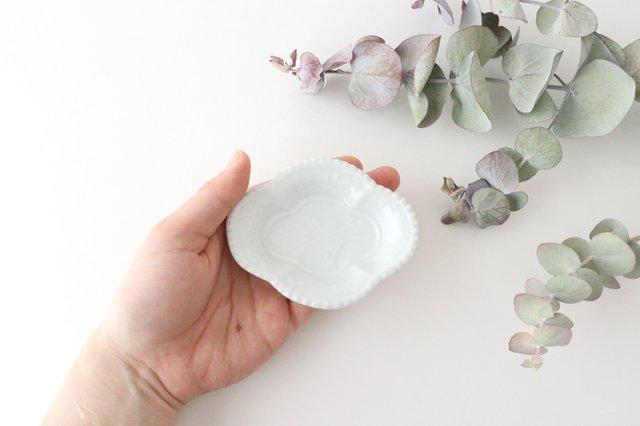 木瓜手塩皿 白磁 磁器 有田焼 画像3