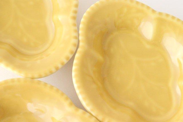 木瓜手塩皿 黄釉 磁器 有田焼 画像5