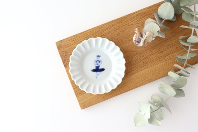 レース小皿 バレリーナ パッセ ブルー 磁器 森陶房 砥部焼