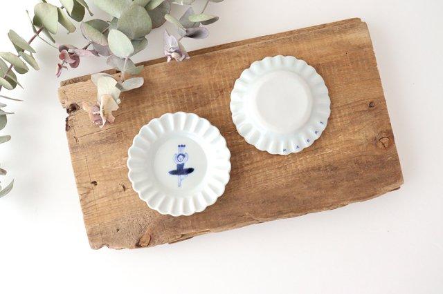 レース小皿 バレリーナ パッセ ブルー 磁器 森陶房 砥部焼 画像3