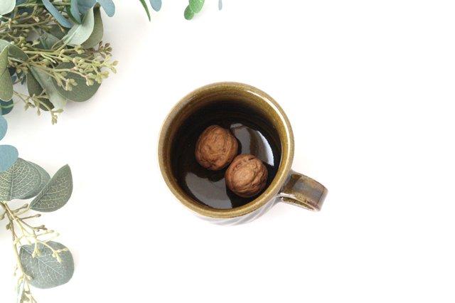 しのぎ マグカップ 緑 陶器 小代焼ちひろ窯 画像4