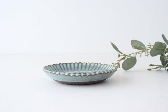 印判輪花皿 小 白 陶器 小代焼ちひろ窯 画像2