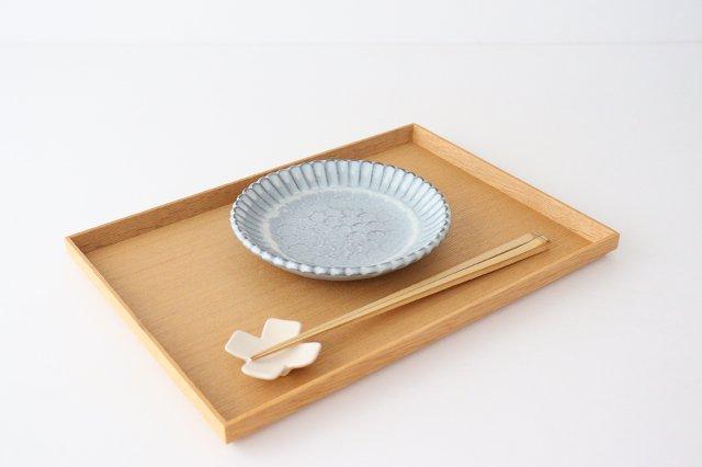 印判輪花皿 小 白 陶器 小代焼ちひろ窯 画像6