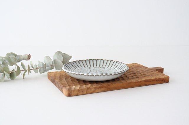 印判輪花皿 小 黄 陶器 小代焼ちひろ窯 画像3
