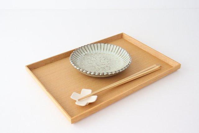 印判輪花皿 小 黄 陶器 小代焼ちひろ窯 画像6